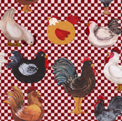 We Love Chickens Checkerboard