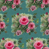 Rose Splendor Teal