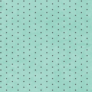Mint And Black Small Dots