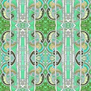 Elegantly Green (vertical stripe)