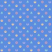 SW Pattern on Blue