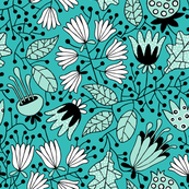 Flowers turquoise