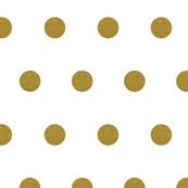 Gold Glitter Polka Dots in White Quartz