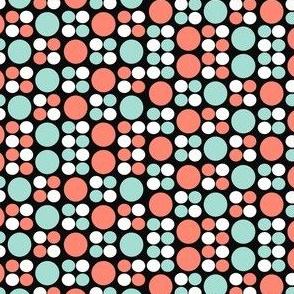 Minty Coral Circles