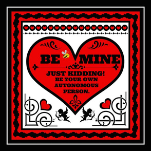 "Be Mine 18"" pillow top"