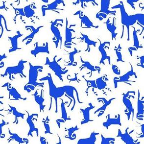 Blue Stencil Dogs