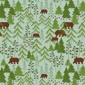 Bears In The Woods Green