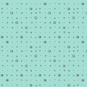 Dots-black/mint