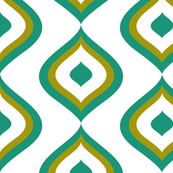 Ogee Arch Teal and Olive