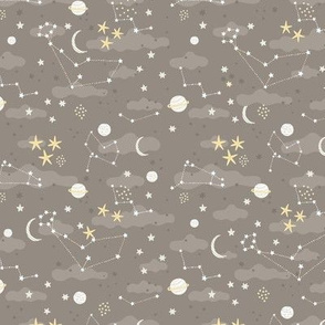 cosmos fabric design - space and stars