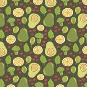 avocado and broccoli