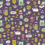 tea pattern VIOLET