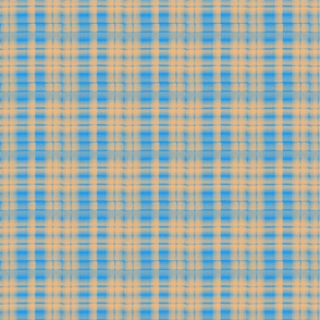 Twisted Plaid-Blue/Orange