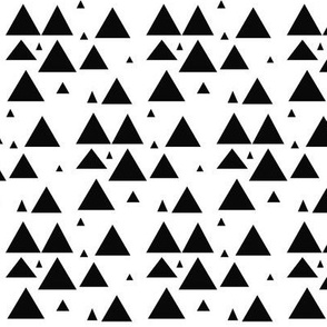 Black scattered triangles