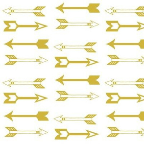 Gold Arrows on White - Gold Arrows