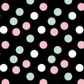 pastel confetti on black