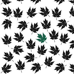 Black Green Leaves