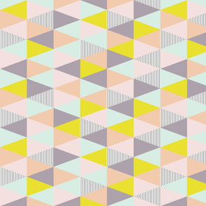 SMALL triangles pastel