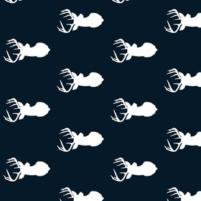 True Navy Blue Deer Sil Fabric