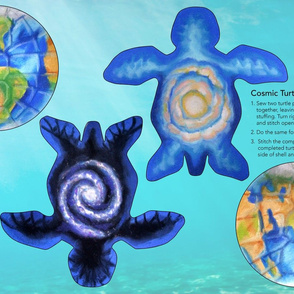The Cosmic Turtle Plushie