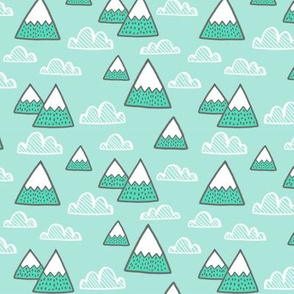 mountains in mint