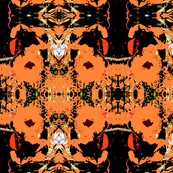 Batik Peach Poppies