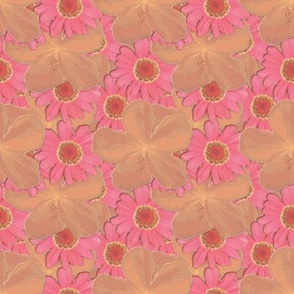 Tangerine and Strawberry Ice Floral
