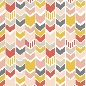 Red Pink Gray Chevron