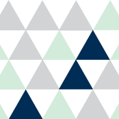 Hamptons Triangles - Mint cheater Quilt-ch