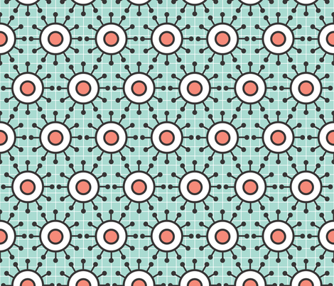 Coral Mint Abstract