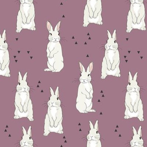 bunnyWhiteonPurple