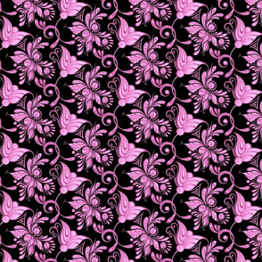 Purple Pretties- Small- Black Background- Flower Bud Designs