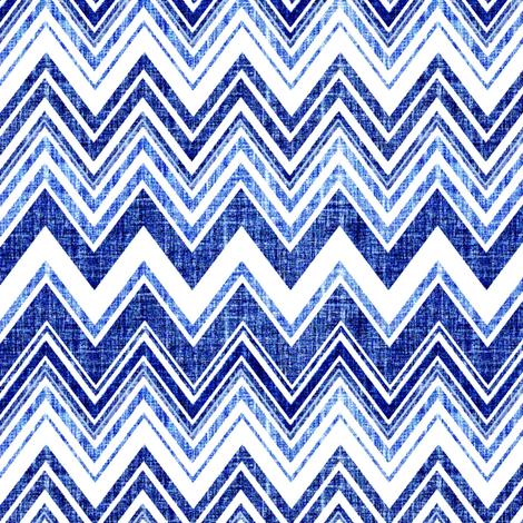 Chevron Denim blue