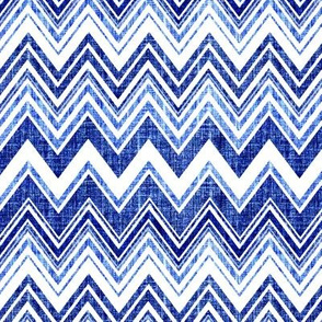 Chevron Denim blue