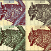 Great Horned Owl 2-Toned Prints
