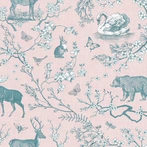 Woodland Spring Toile (Blush)