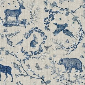 Winter Toile (in Navy)