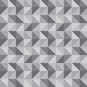 Gray Geo Triangles