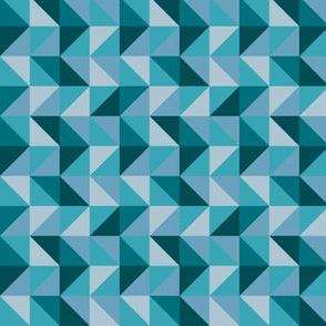Teal Geo Triangles