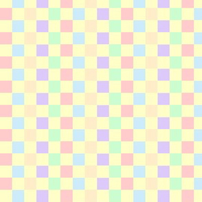 Pastel Checkerd Board Print