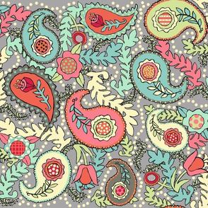 Colorful Paisleys