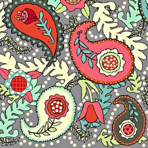 Colorful Paisleys (a bit brighter version)