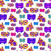 Smiling Cubist Cats