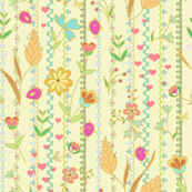 Flower joy & birds -multicolor