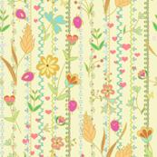 Flower joy & birds -multicolor