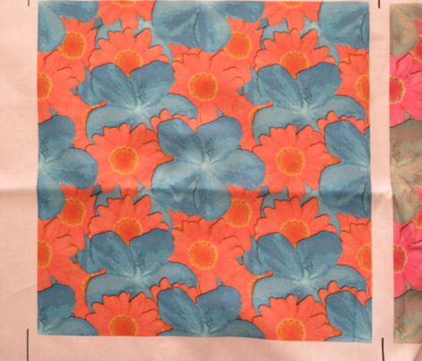 Turquoise and Tangerine Watercolor Floral