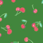 Very cherry - medium green