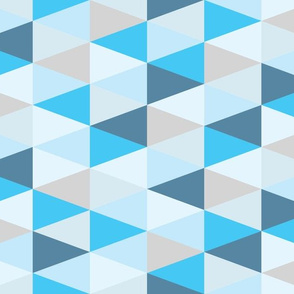 SMALL triangles blue ombre