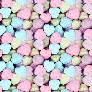Candy Hearts (Seamless)