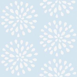Bursting Bloom in Sea Blue-ed